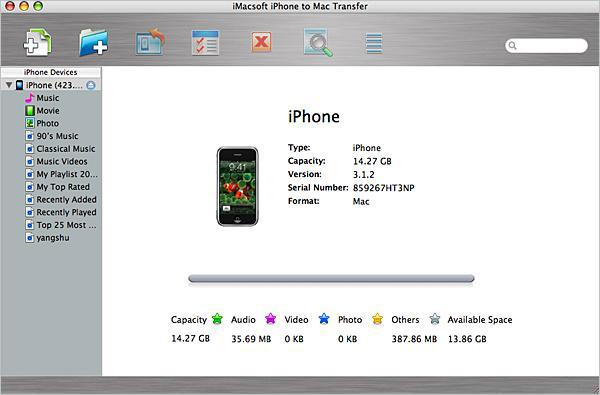 ejecutar iPhone to Mac Transfer